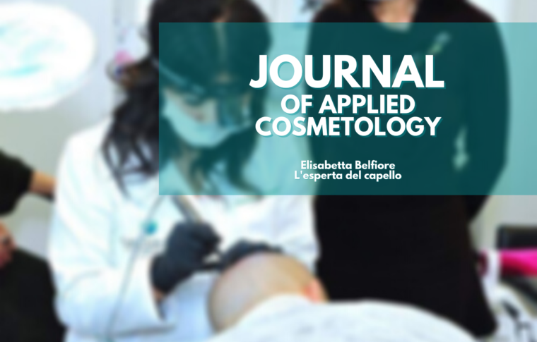 "Pubblicazione Scientifica """"Journal of Applied Cosmetology"""